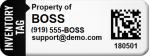 boss asset tag sample